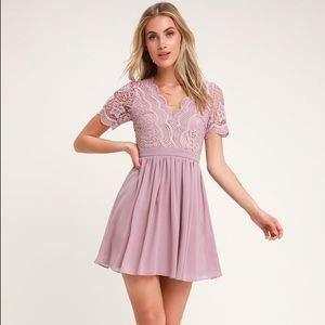 Lulu's Angel in Disguise Lavender Lace Dress